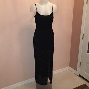 Aqua Maxi Dress - Black